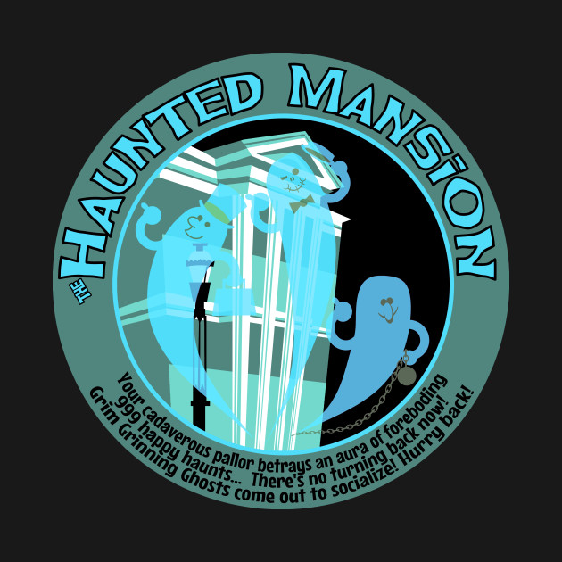 Haunted Mansion (black and blue)