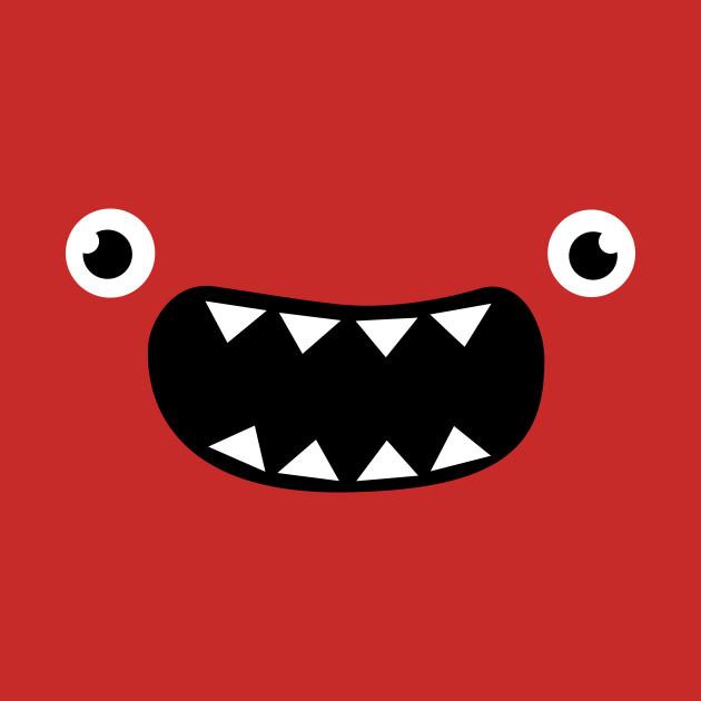 Funny Monster Face - Face - T-Shirt : TeePublic