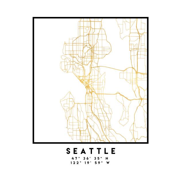 Seattle Washington City Street Map Art Seattle Mug Teepublic