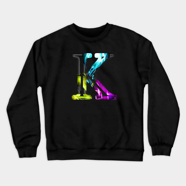 Adult Letter K Crewneck Sweatshirt