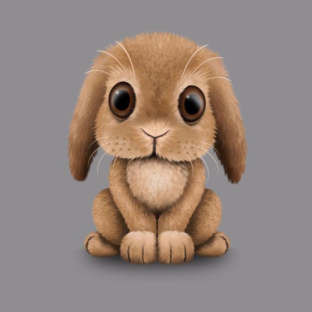 4db7b2d7b Cute Brown Baby Bunny Rabbit - Bunny - T-Shirt | TeePublic