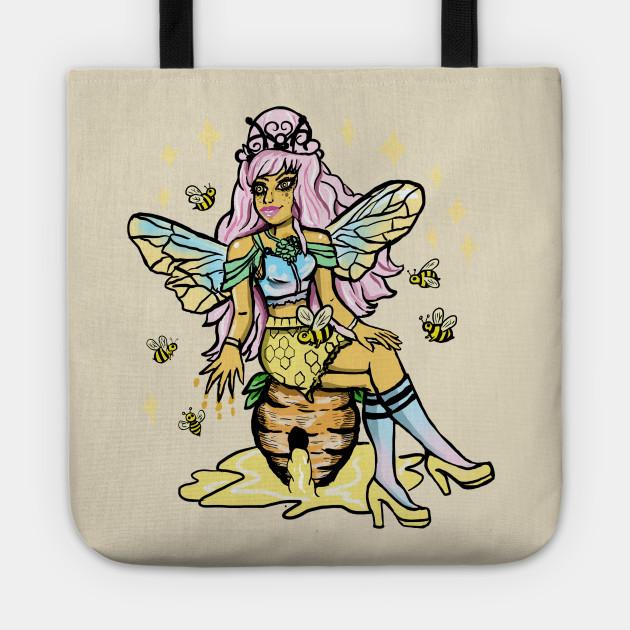 Queen Bee Honey Comb Kawaii Pastel Goth