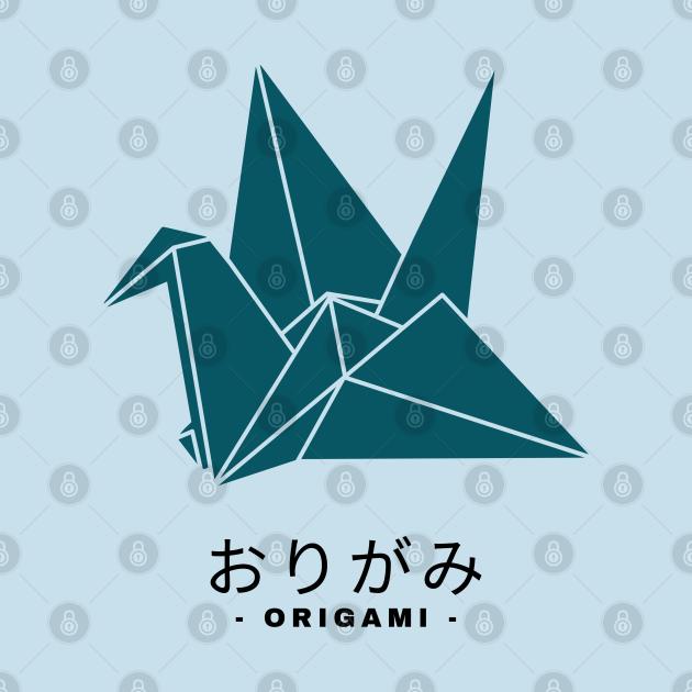 Paper art origami crane