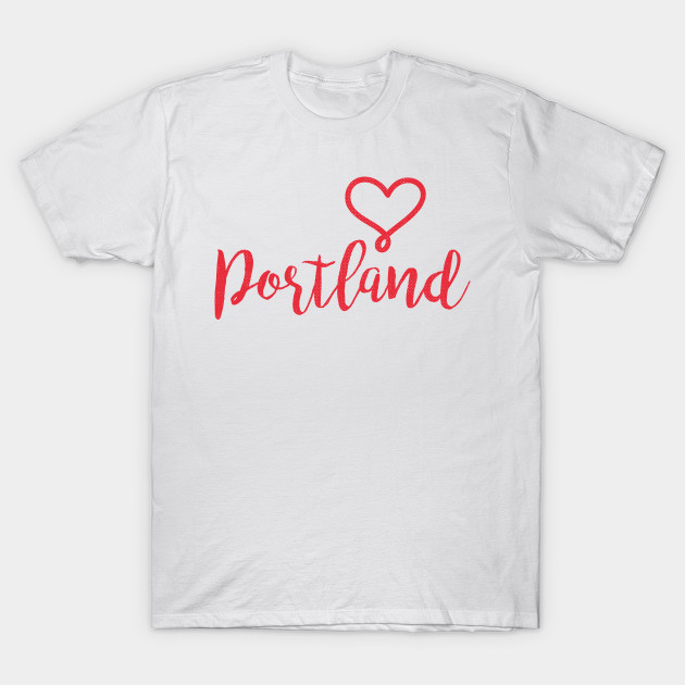 Portland, Oregon - OR, Valentines Day Love T-Shirt