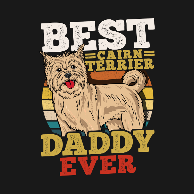 Cairn Terrier Daddy Dog Dad Father's Day Retro