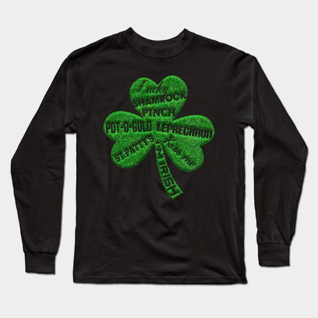 e920a1b40 Four Leaf Clover Shirt. St.Patrick's Day Shirt for Men/Women Long Sleeve T- Shirt