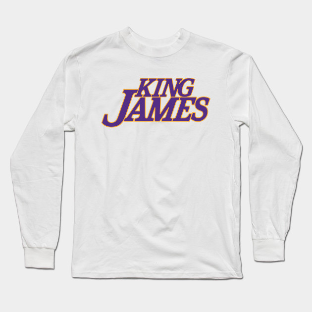 King James Los Angeles Lakers - Lebron - Long Sleeve T-Shirt  ecce27141