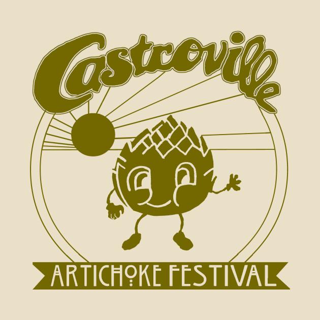 The Original CASTROVILLE ARTICHOKE FESTIVAL - Dustin's shirt in Stranger Things