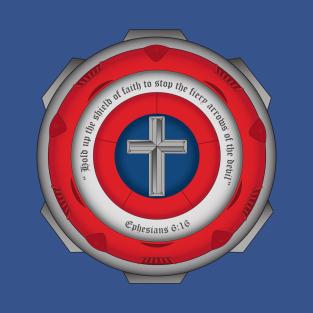 Captain Shield of Faith t-shirts