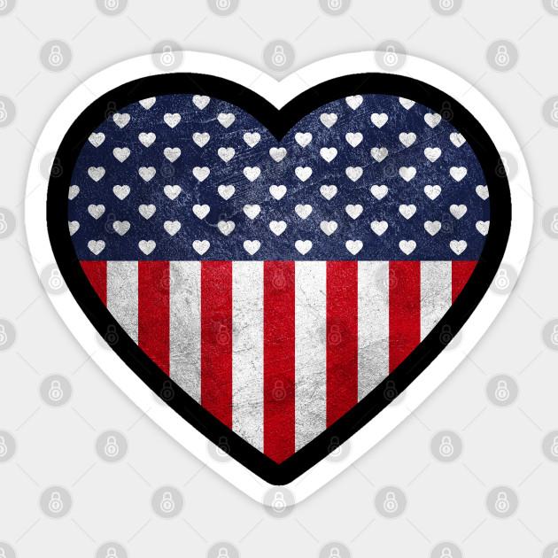WALLPAPER BORDER DIE CUT AMERICANA FLAG HEART STAR PATRIOTIC NEW ARRIVAL COUNTRY