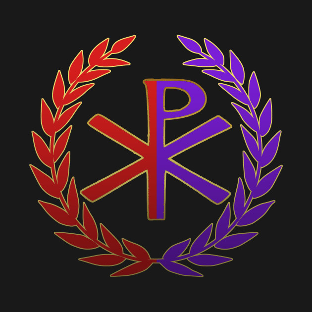 roman empire east and west chi rho symbol roman empire