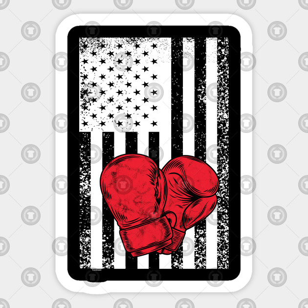 American Flag Boxing Gloves