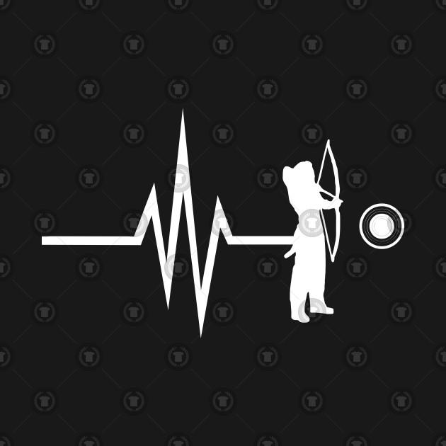 fd2ba9a82 My heart beats for archery - arrow bow - Funny Archery Gift - T ...