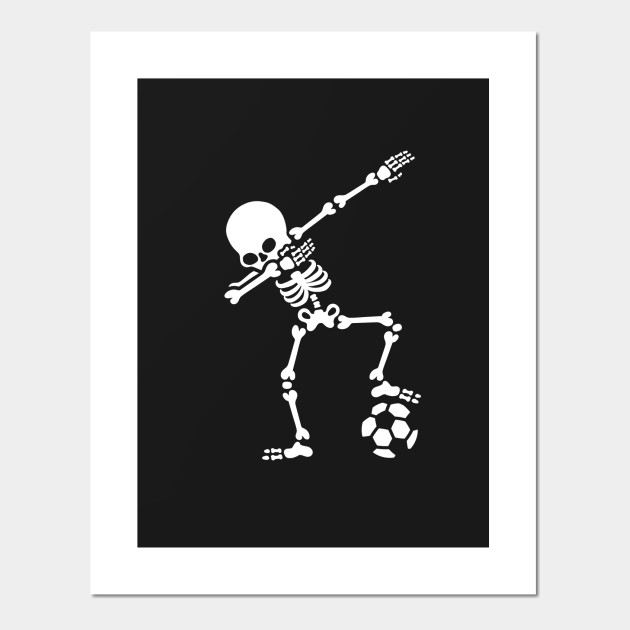 Dab dabbing skeleton football (soccer)