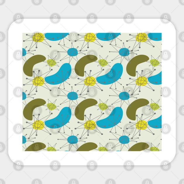 Mid Century Modern Pattern Mid Century Modern Pattern Sticker Teepublic Au