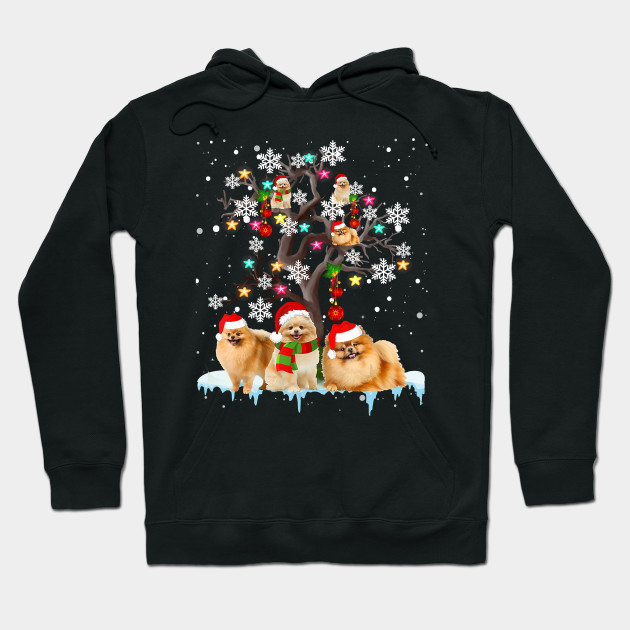 Funny Christmas Pomeranian Christmas Tree Ornament Christmas Gifts Hoodie