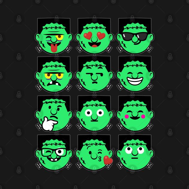 Emoji Faces Frankenstein