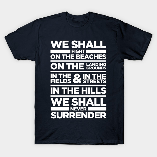 we shall fight on the beaches We shall fight on the beaches: the speeches that inspired history by jacob f field a collection of extracts from the most rousing and inspirational wartime speeches of the last 2,500 years—cicero to churchill, lincoln to mao.
