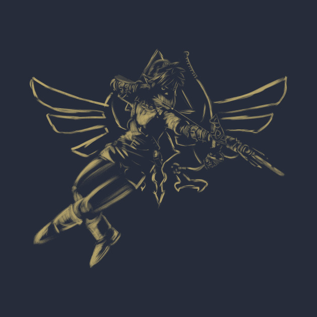 Hylian Hero Reborn (gold) T-Shirt