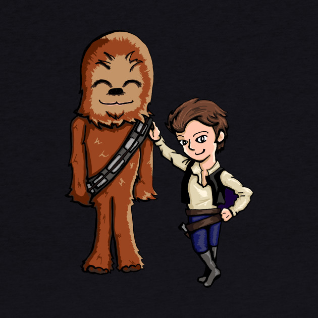Chibi Chewie and Han