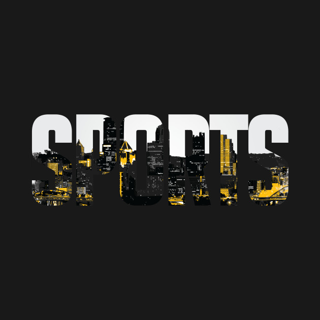Pittsburgh Sports Black and Yellow Skyline