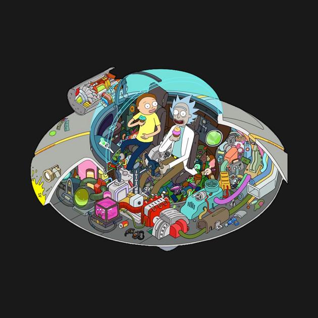 ae69909b Rick and Morty spaceship Rick and Morty Rick and Morty - Rick And ...