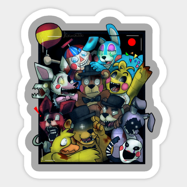 five nights at freddy s 2 gang photo fivenightsatfreddys sticker