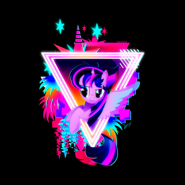 Neon Twilight Sparkle