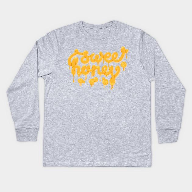 dfb783730 Sweet as honey - Yellow - Kids Long Sleeve T-Shirt | TeePublic