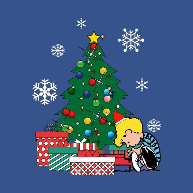 The Christmas Tree.Schroeder Peanuts Around The Christmas Tree