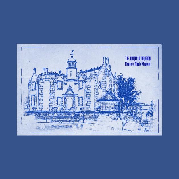 haunted mansion blueprint - haunted mansion - t-shirt   teepublic