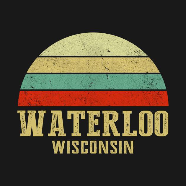 WATERLOO, WISCONSIN Vintage Retro Sunset