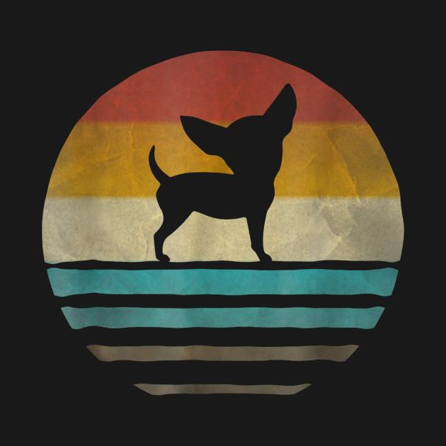 Funny Chihuahua Silhouette TShirt Gift