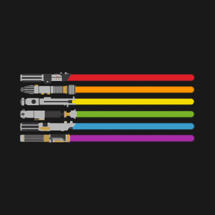 lightsaber rainbow t-shirts
