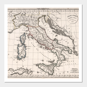 Italy Map Wall Art.Italy Map Posters And Art Prints Teepublic