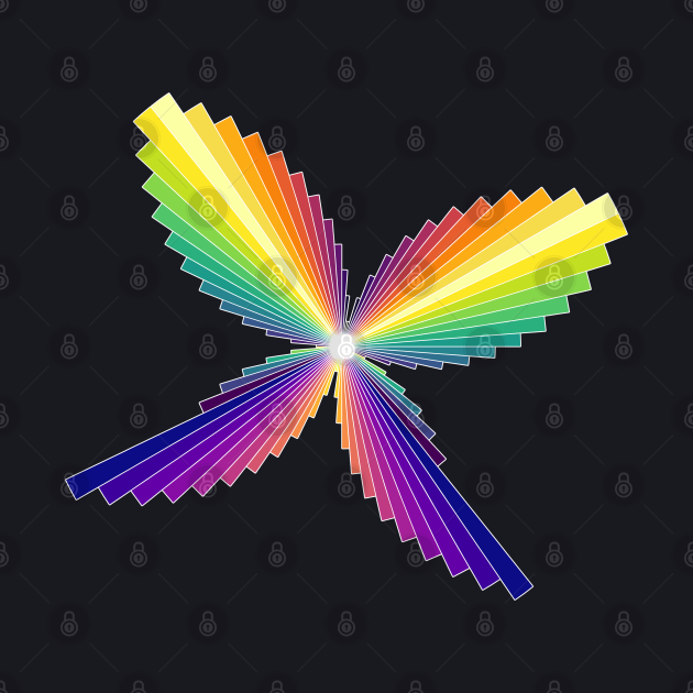 Rainbow Butterfly | Flying Wings Bar Charts Black