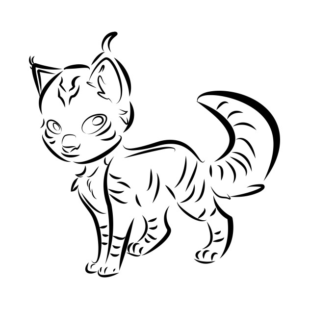 awesome cat! line art!