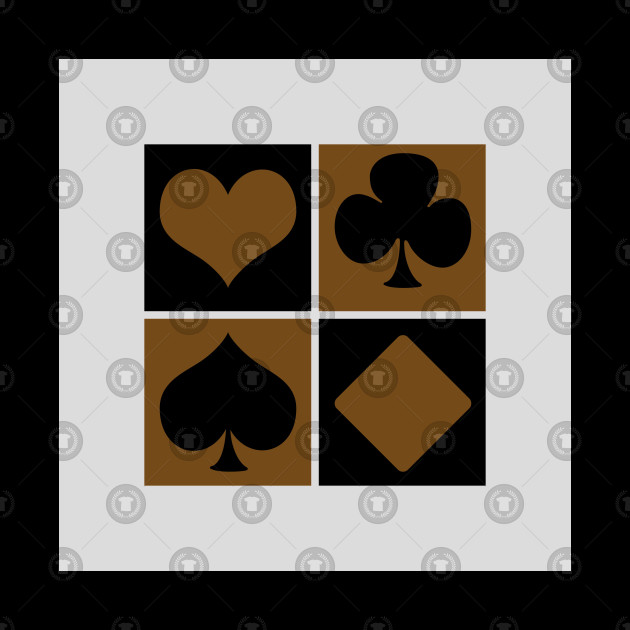 Card symbols in black&brown