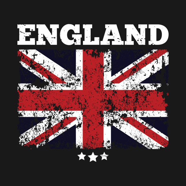 England Flag And Three Stars Union Jack British Flag Design