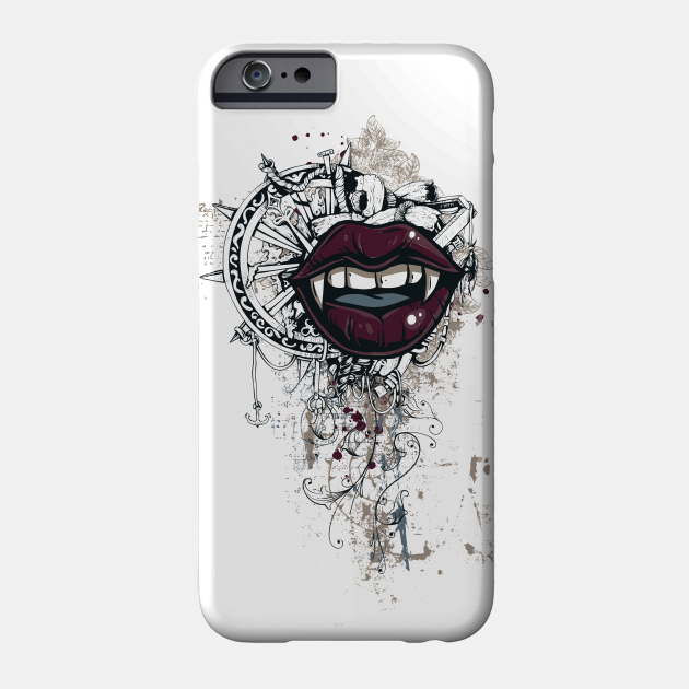 Vampiric Seduction Illustrated Gothic Design