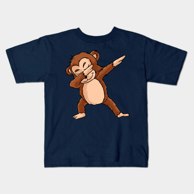 e45fe854 Cute Dabbing Monkey Shirt Funny Monkey Dab Tshirt Gift Kids T-Shirt