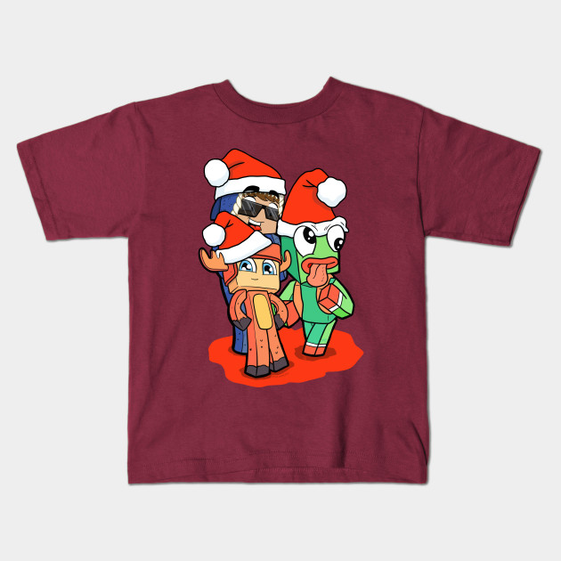Moosecraft Unspeakable 09Sharkboy Kids White T shirt childrens Youtube gaming