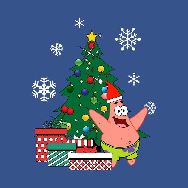 Spongebob Christmas.Patrick Star Around The Christmas Tree Spongebob