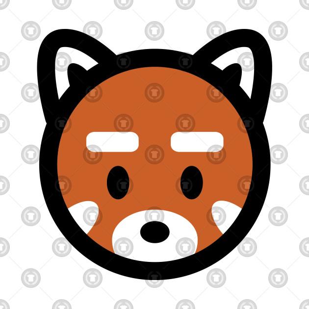 Red Panda Head Bambu Brand Cute Kawaii Anime Manga Animal Mammal China Habitat Inbreed Fox