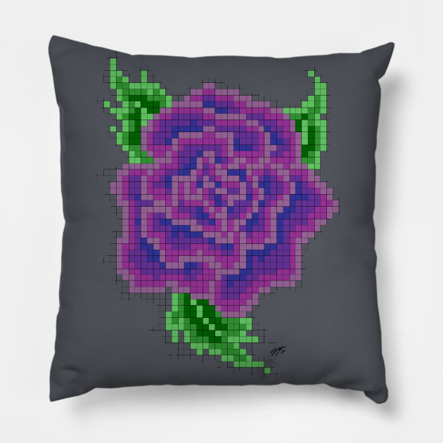 8 bit Purple Rose