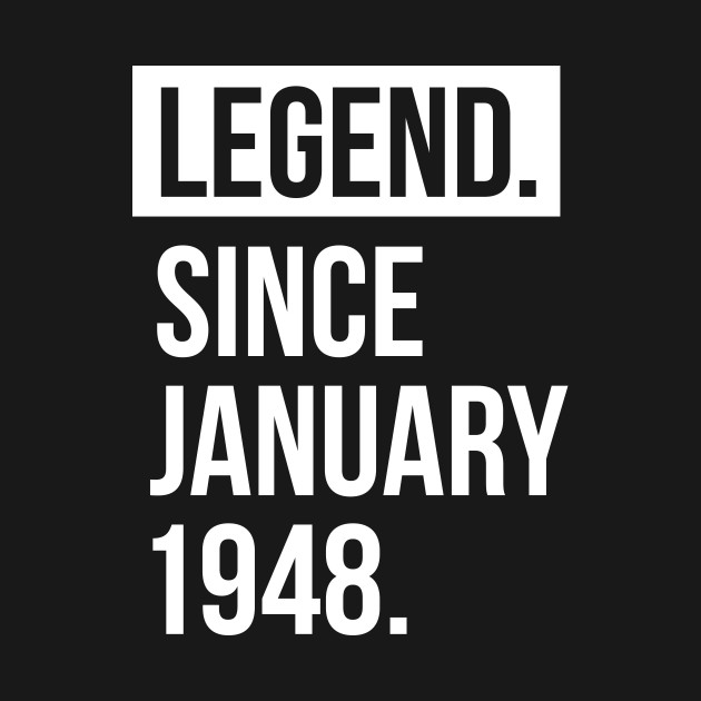 1948 January 70 Years Old Birthday