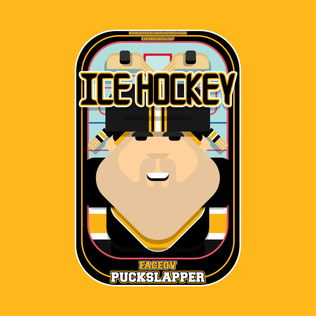 Ice Hockey Black and Yellow - Faceov Puckslapper - Victor version