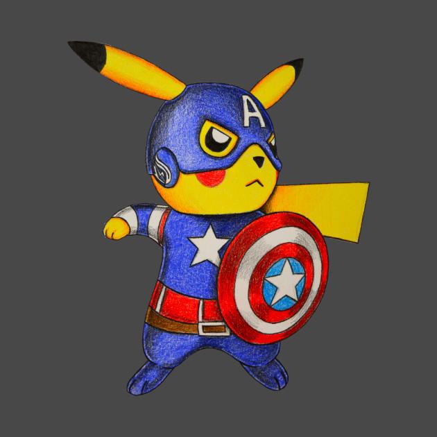 fcc85d32 Captain Pikachu - Pokemon Mashup - Kids T-Shirt | TeePublic