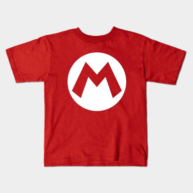 M Of Mario Super Mario Kids T Shirt Teepublic