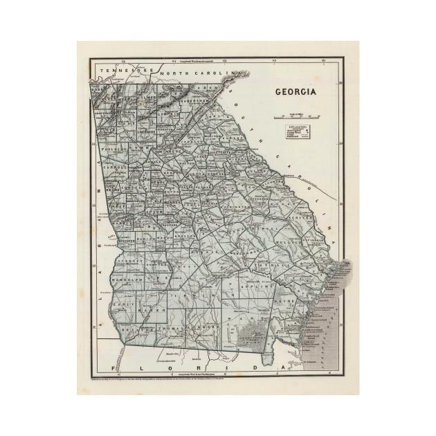Map Of Georgia For Kids.Vintage Map Of Georgia 1845 Georgia Map Kids Long Sleeve T
